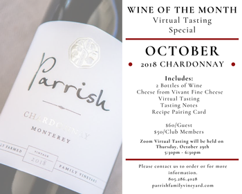 October: Wine of Month - Chardonnay